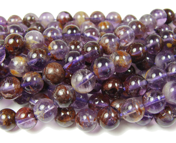 8mm Purple Phantom Crystal Round Beads