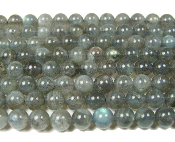 High quality labradorite round beads with iridescence (6mm)
