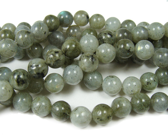 8mm 15.5 Inches Labradorite Round Beads