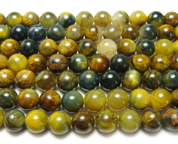 10mm 15.5 Inches Pietersite Faceted Round Beads