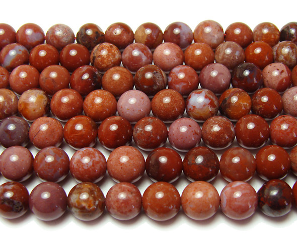 8mm 15.5 Inches Portuguese Agate Smooth Round Beads