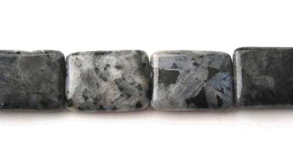 19x25mm  Dark labradorite rectangle beads