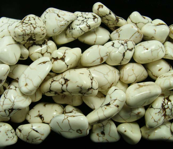 16x20mm - 20x24mm  white Howlite free-form nugget beads