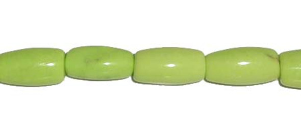 8x14mm Apple green turquoise rice-shaped beads
