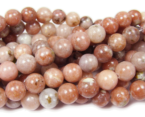 8mm Cherry flower jasper round beads