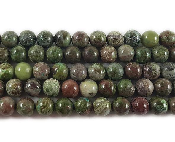 8mm 15.5 Inches Australian Dragon Blood Jade Beads