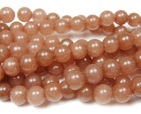 8mm  15.5 inches Caramel brown jade round beads
