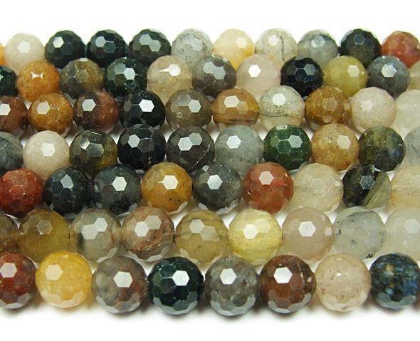 8mm Finely cut shiny Chinese tourmaline beads