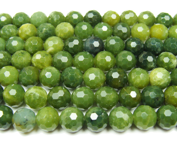 6mm Finely Cut Shiny Bc Jade Beads
