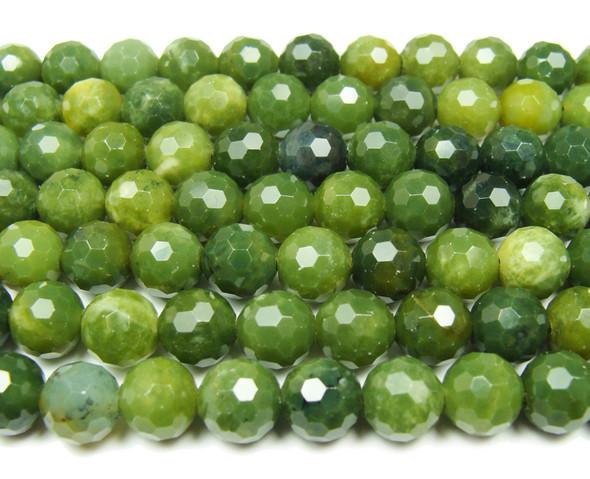 10mm Finely cut shiny BC jade beads