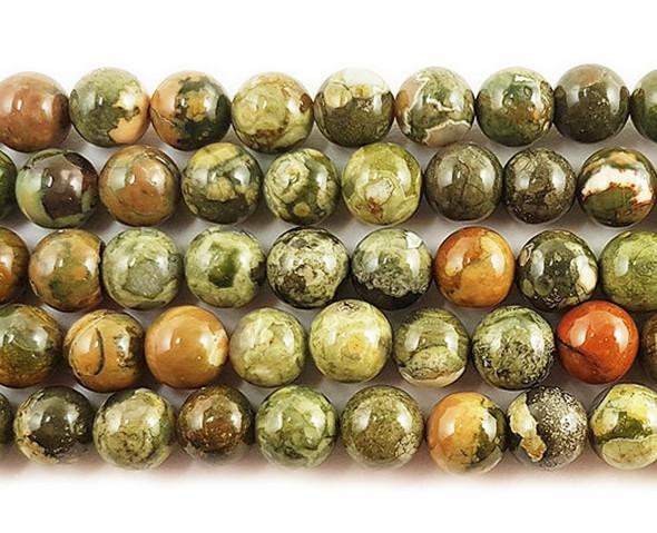 4mm Rhyolite Jasper Round Beads