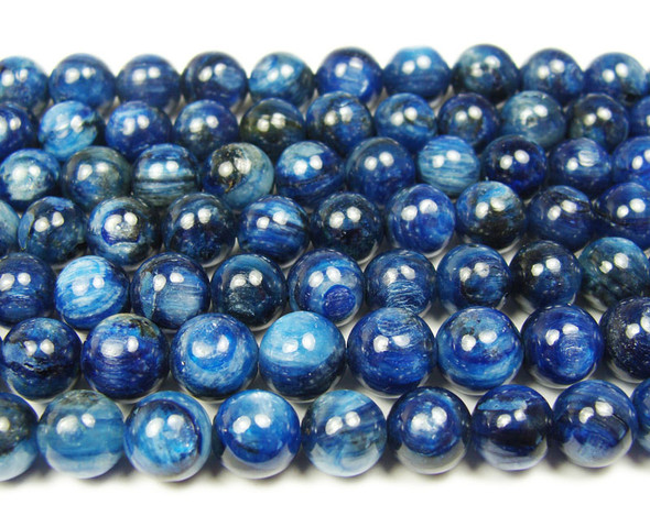 10mm  15.5 inches Kyanite round beads