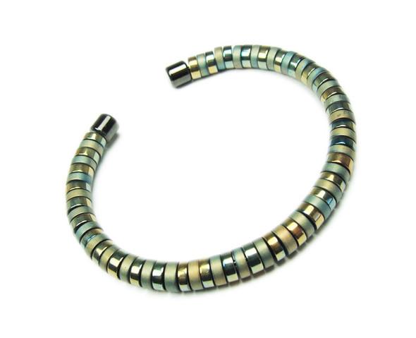 Beige Hematite Fashion Cuff Bracelet