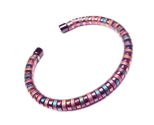 Multi Color Hematite Fashion Cuff Bracelet