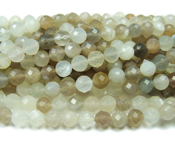 6mm Finely Cut Multi Moonstone Beads
