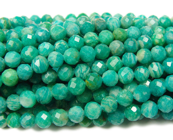 5mm Finely cut Russian amazonite beads