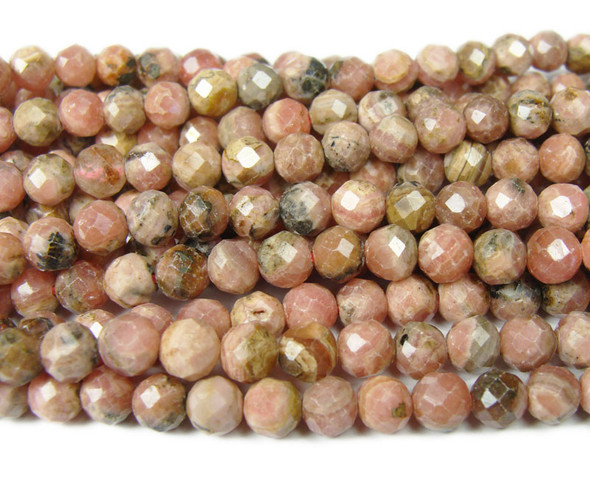 6mm 15.5 Inches Finely Cut Rhodochrosite Beads