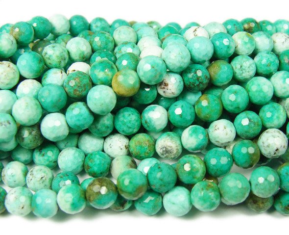 6mm Australian Chrysoprase faceted round beads
