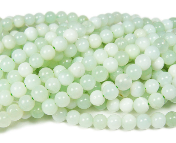 5.5mm Australian green opal smooth beads