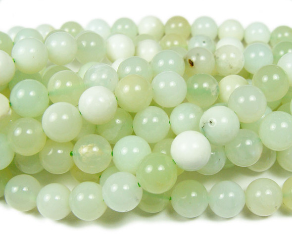 8mm Australian green opal smooth beads
