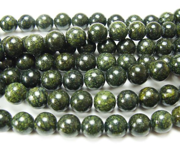 4mm Dark Russian Jade Round Beads