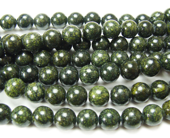 8mm Dark Russian Jade Round Beads