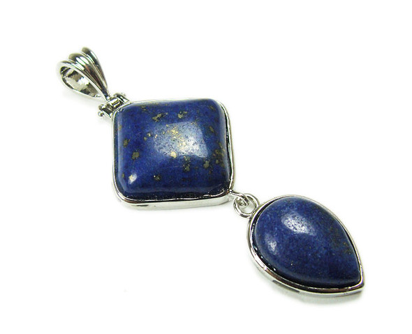 25mm x 55mm Lapis Two Piece Dangling Pendant