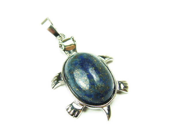 22x30mm Lapis Small Turtle Oval Pendant