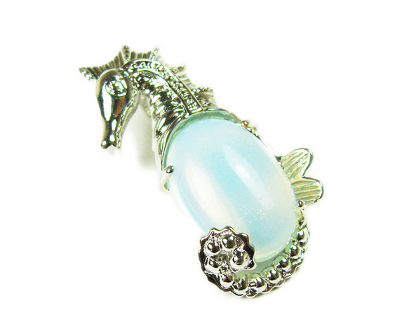 18x33mm Opalite sea horse pendant