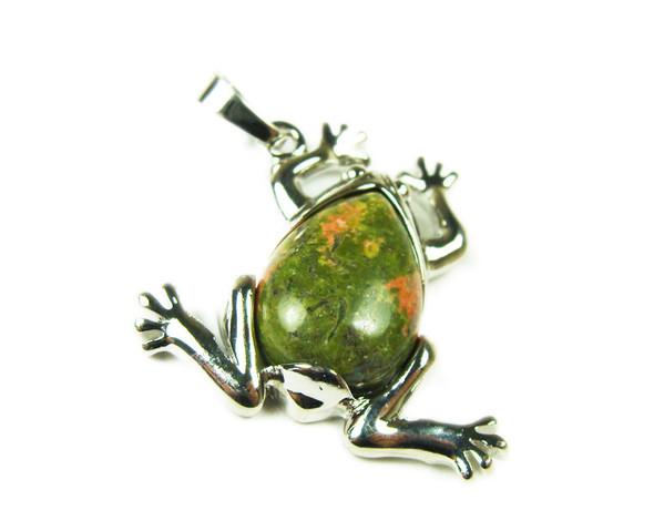 25x35mm Unakite Frog Pendant