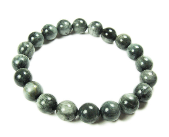 12mm  8 inches Natural eagle eye gemstone bracelet