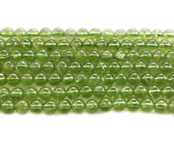 3.5mm Peridot Round Beads