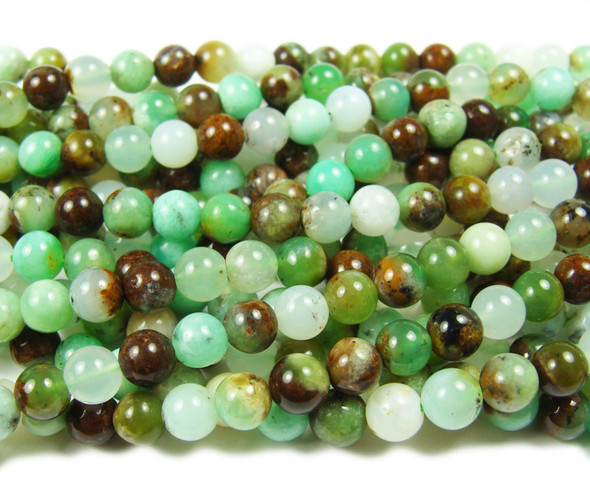 6mm Australian Chrysoprase Smooth Round Beads