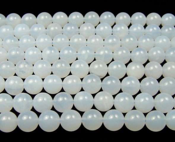 8mm Chalcedony smooth round beads