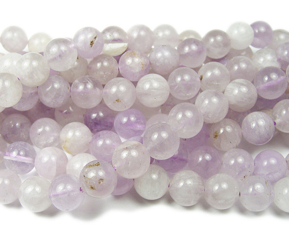 8mm Lavender Amethyst Smooth Round Beads