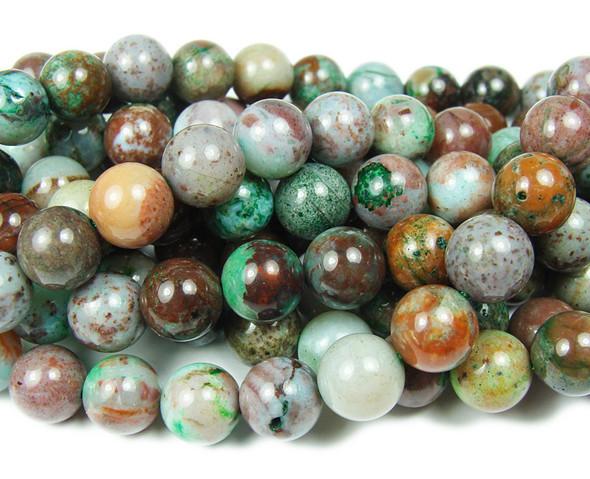8mm Australian Eclogite Smooth Round Beads