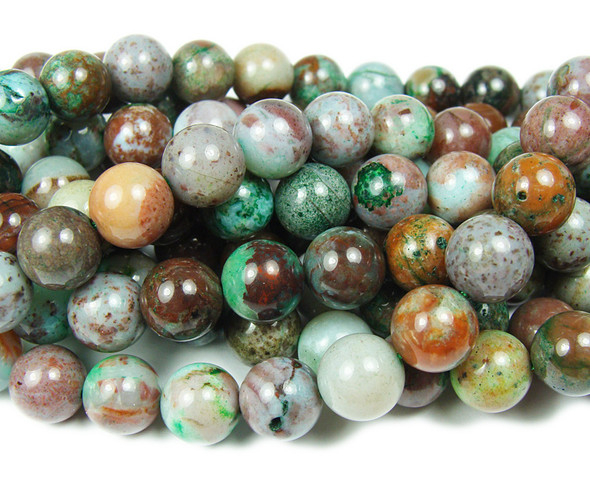 10mm Australian Eclogite Smooth Round Beads