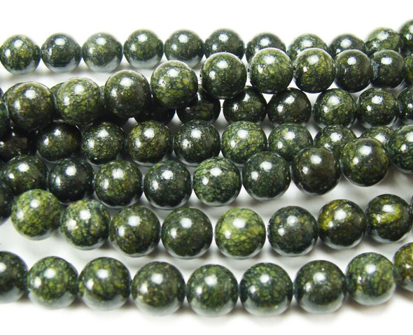 6mm Dark Russian Jade Round Beads