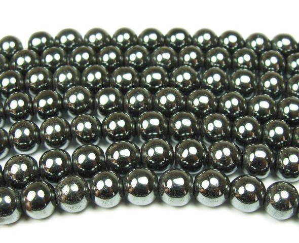 12mm Iron gray hematite smooth round beads