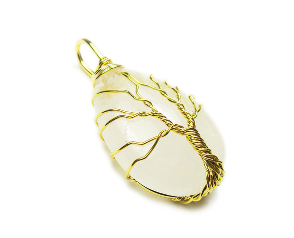 25x35mm Gold Wired Clear Crystal Teardrop Pendant