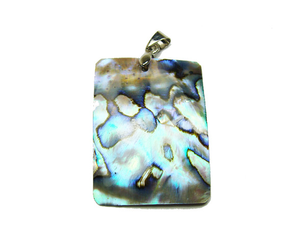 28x38mm Abalone Rectangle Pendant