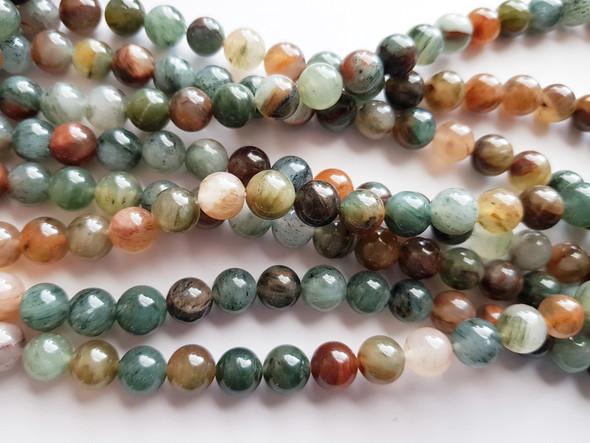 6mm Rainbow Phantom Crystal Round Beads