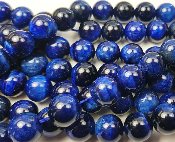 10mm Blue tiger eye smooth round beads