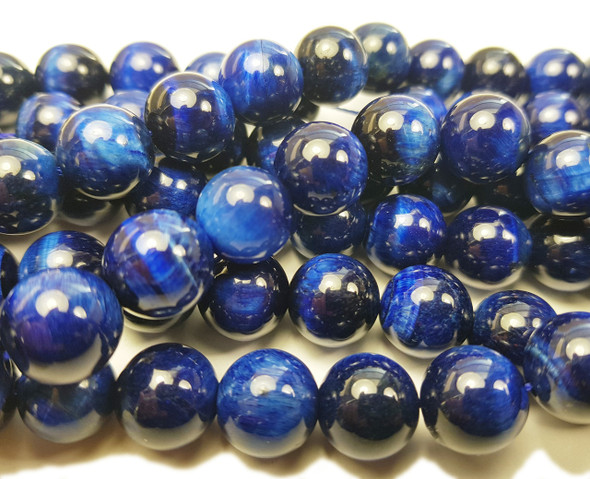 8mm Blue tiger eye smooth round beads