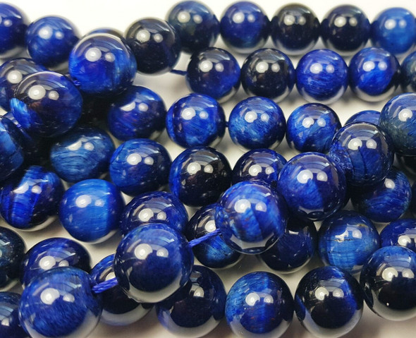 6mm Blue tiger eye smooth round beads