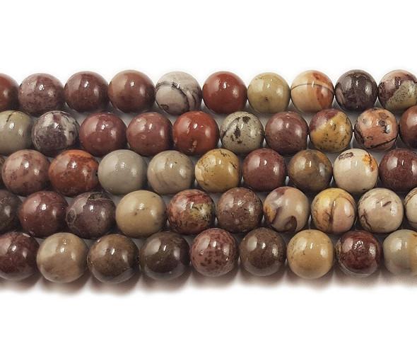 12mm Flower jasper round beads