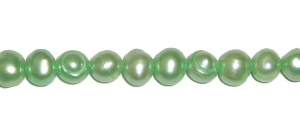 5 - 6mm Green-colored potato pearls
