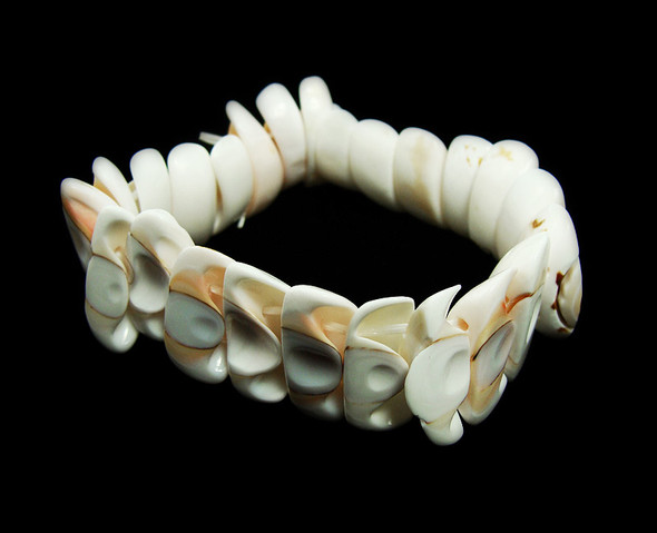 7 inches Natural Shell Stretch Bracelet