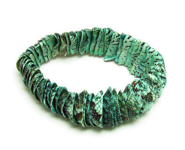 7 inches Green Stretch Bracelet