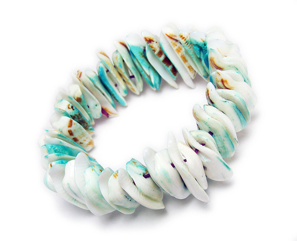 7.5 inches Natural Shell Stretch Bracelet